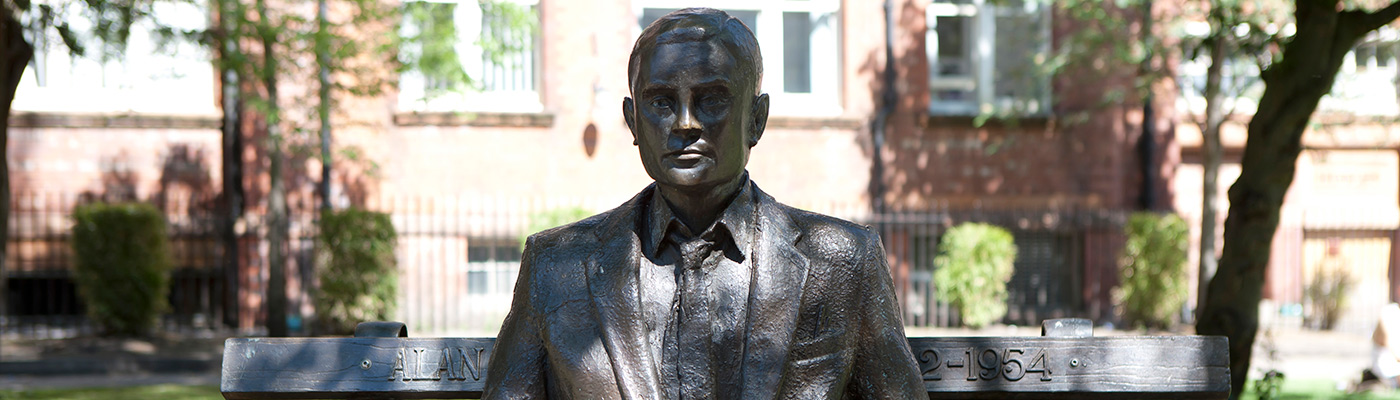 Statue of Alan Turing on North Campus